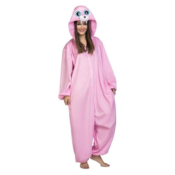 disfraz pijama morsa rosa adulto - DISFRAZ PIJAMA MORSA ADULTO