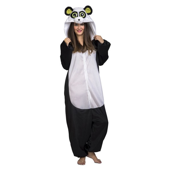 disfraz pijama oso panda adulto 1 - DISFRAZ PIJAMA OSO PANDA ADULTO