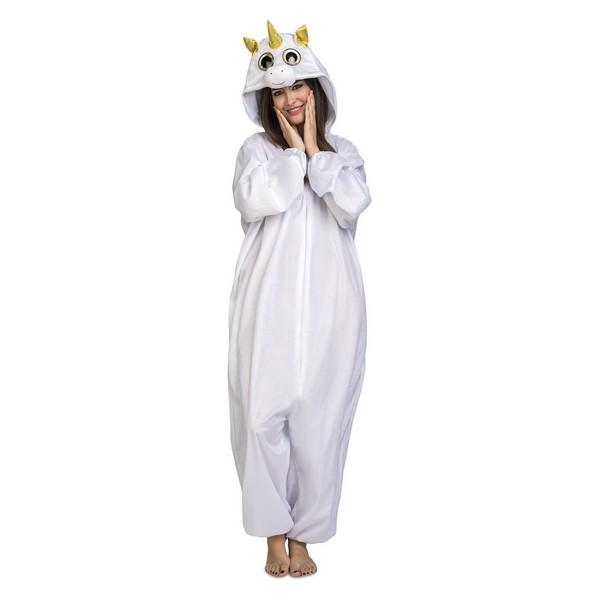 disfraz pijama unicornio blanco adulto - DISFRAZ PIJAMA UNICORNIO BLANCO ADULTO