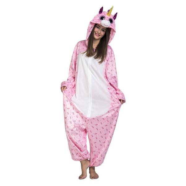 disfraz pijama unicornio rosa adulto - DISDRAZ PIJAMA UNICORNIO ROSA ADULTO