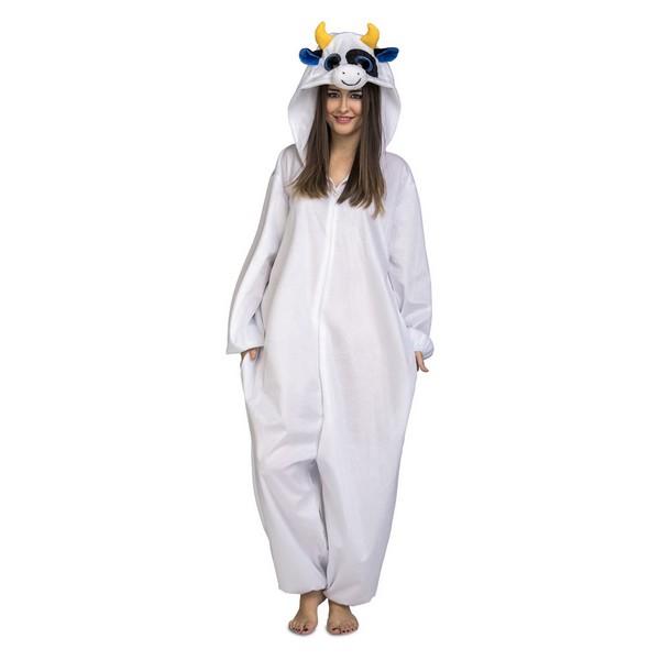 disfraz pijama vaca adulto - DISFRAZ PIJAMA DE VACA ADULTO