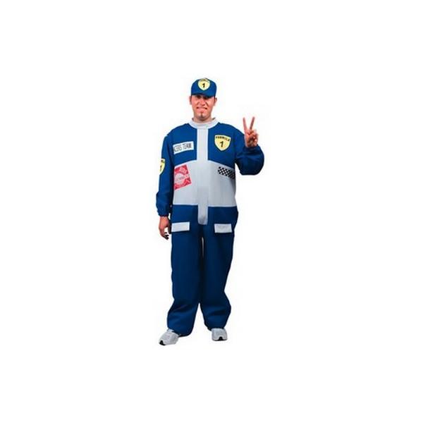 disfraz piloto formula uno azul adulto - DISFRAZ DE PILOTO FORMULA 1 ADULTO