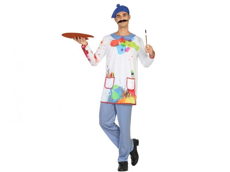 disfraz pintor colores hombre - DISFRAZ DE PINTOR COLORES HOMBRE