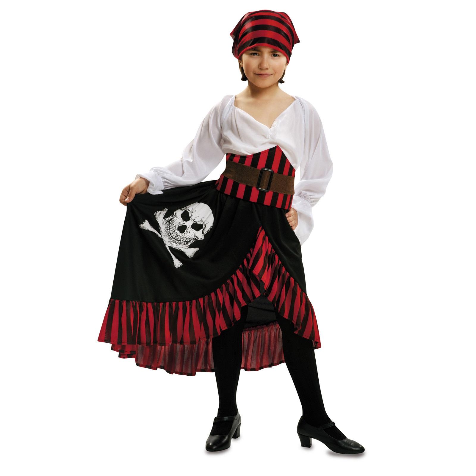 disfraz pirata bandana bebé 200584mom - DISFRAZ DE PIRATA BANDANA BEBE NIÑA