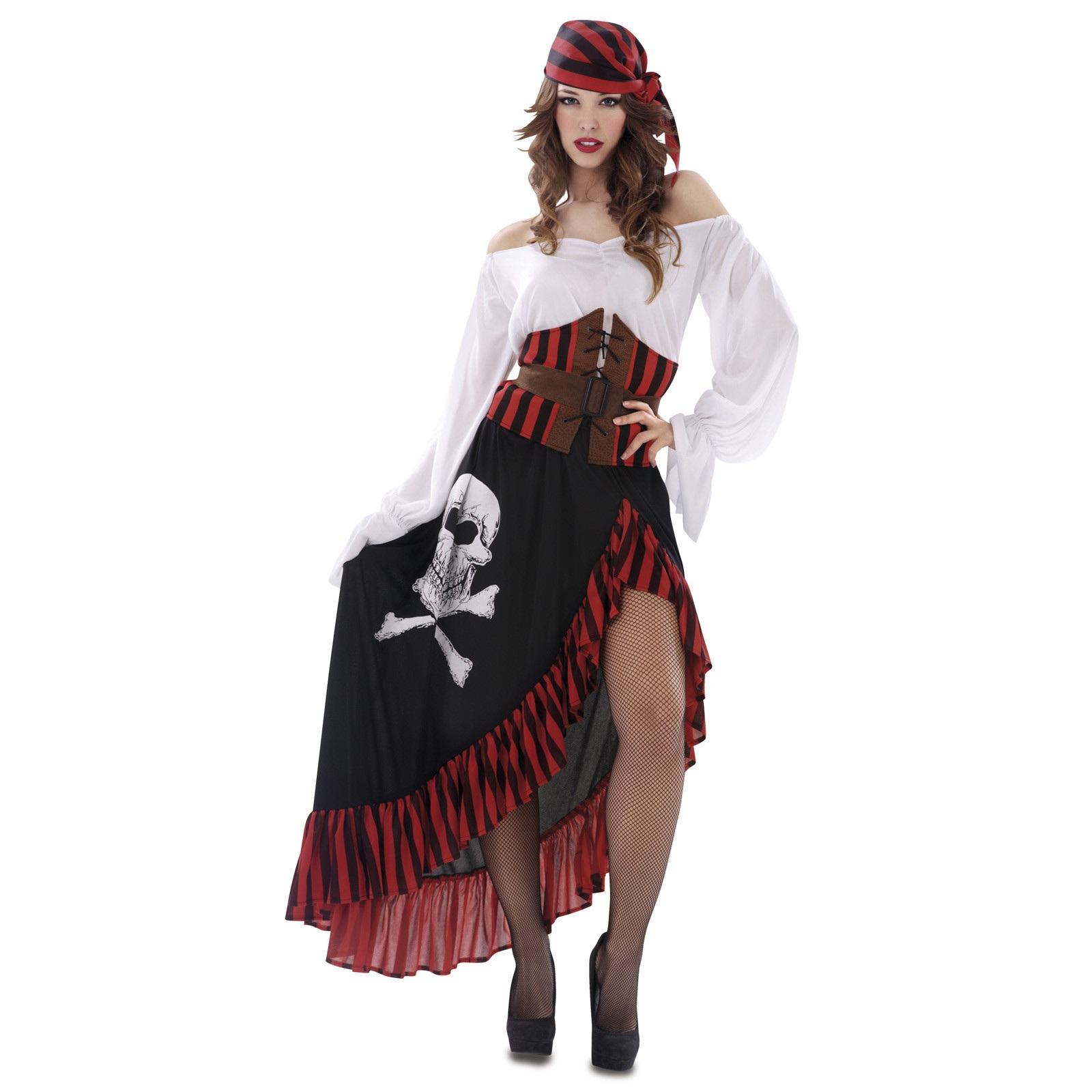 disfraz pirata bandana mujer 200626mom - DISFRAZ DE PIRATA BANDANA MUJER
