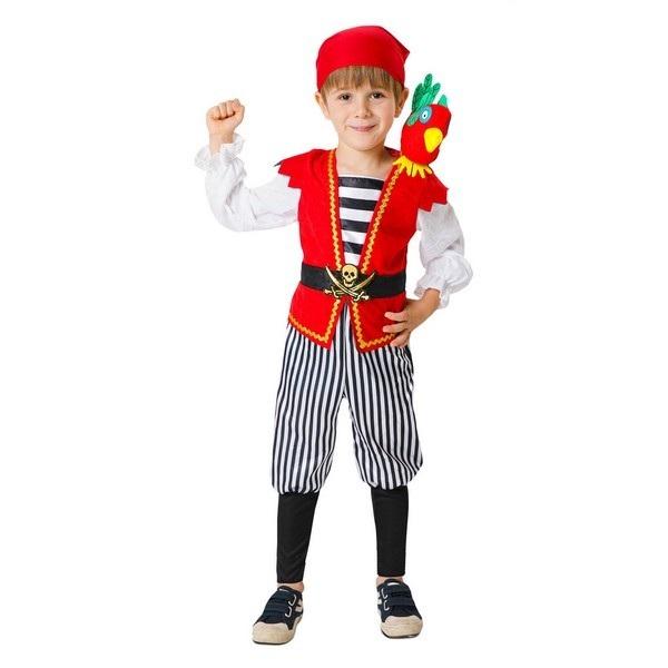 disfraz pirata caribeño infantil - DISFRAZ DE PIRATA LORO BEBE