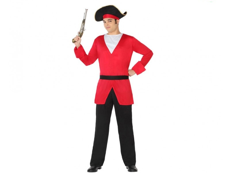 disfraz pirata hombre 2 - DISFRAZ DE PIRATA ROJO PARA HOMBRE