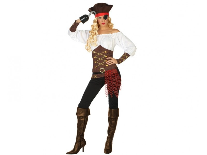 disfraz pirata mujer 1 - DISFRAZ DE PIRATA MUJER