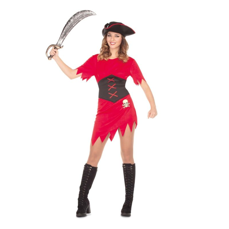 disfraz pirata mujer 4 800x800 - DISFRAZ DE PIRATA ROJO MUJER