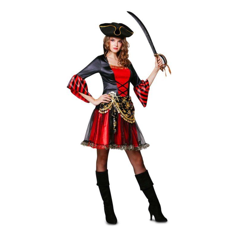 disfraz pirata negro rojo mujer 800x800 - DISFRAZ DE BELLEZA PIRATA MUJER