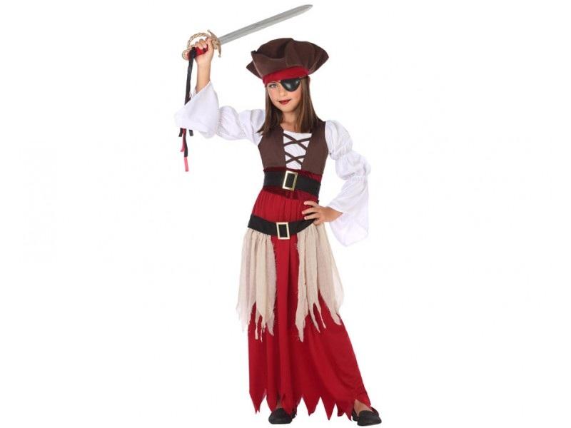 disfraz pirata niña 1 - DISFRAZ  DE NIÑA PIRATA NIÑA