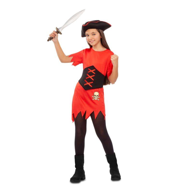 disfraz pirata niña 4 800x800 - DISFRAZ DE PIRATA ROJO NIÑA