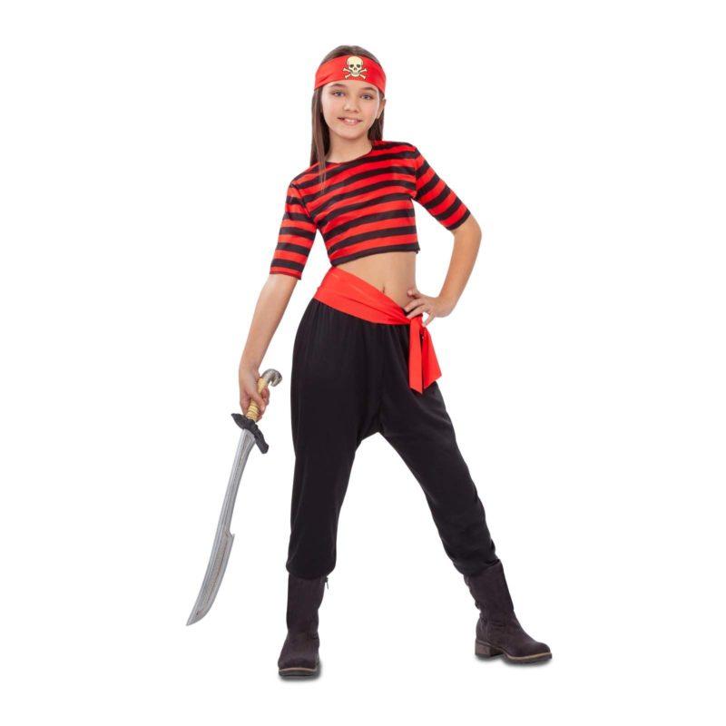 disfraz pirata niña rayas 800x800 - DISFRAZ DE PIRATA RAYAS NIÑA