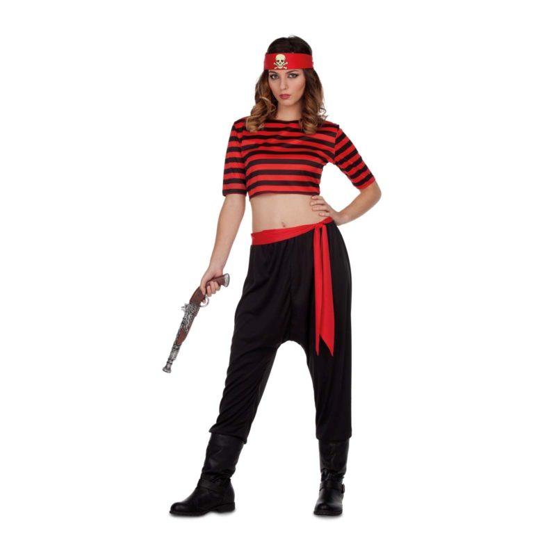 disfraz pirata rayas mujer 1 800x800 - DISFRAZ DE PIRATA RAYAS MUJER