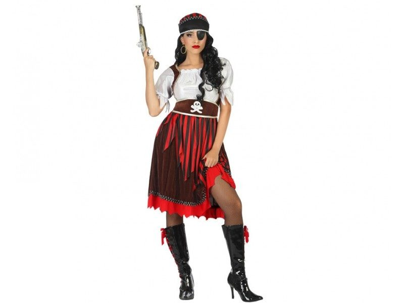 disfraz pirata rayas mujer 800x600 - DISFRAZ DE PIRATA RAYAS MUJER