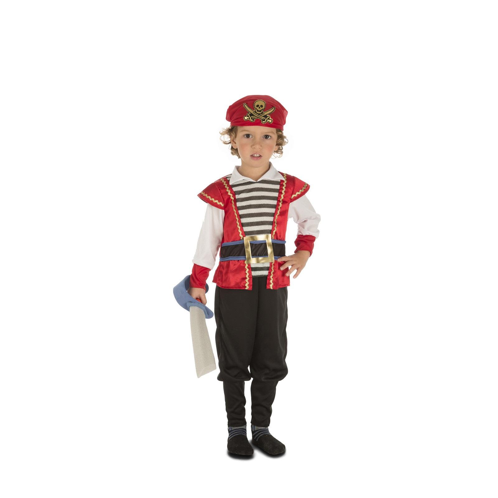 disfraz pirata rojo bebé niño 204074mom - DISFRAZ DE PIRATA ROJO BEBE