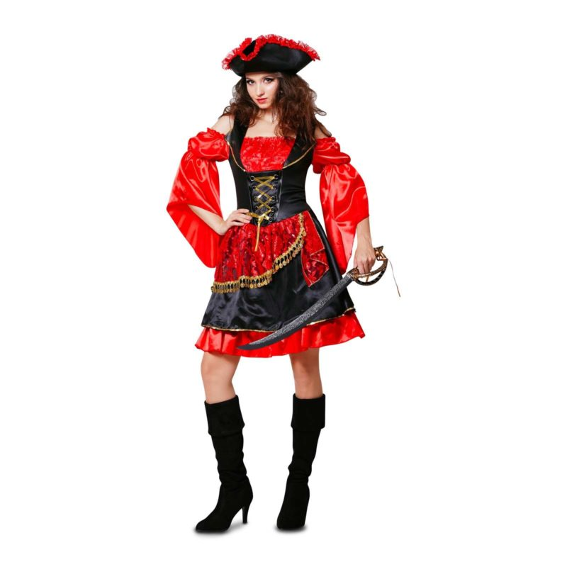 disfraz pirata rojo mujer 1 800x800 - DISFRAZ DE PIRATA DESCARADA MUJER