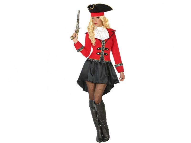 disfraz pirata rojo mujer - DISFRAZ DE PIRATA ROJO MUJER