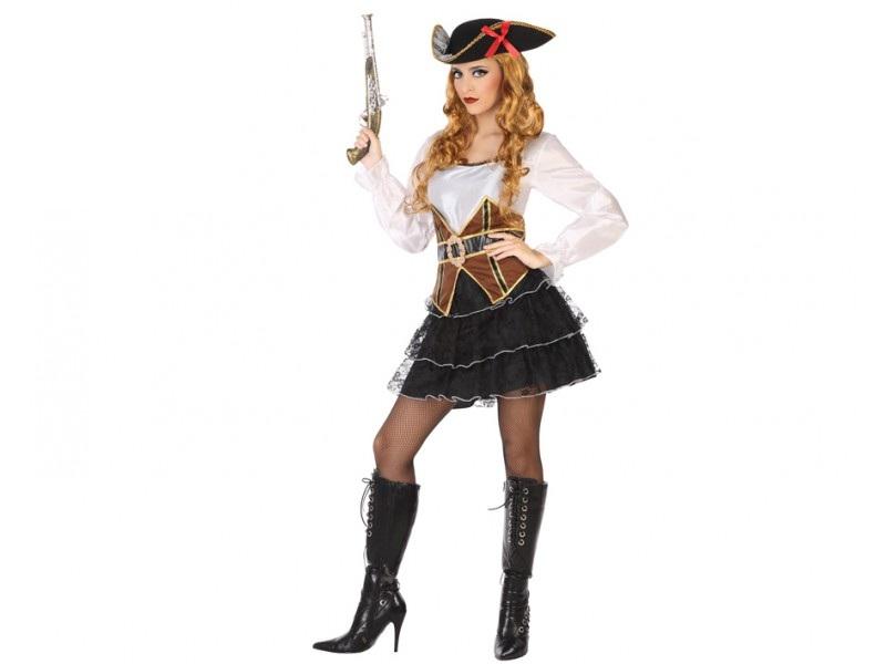 disfraz pirata volantes mujer - DISFRAZ DE PIRATA VOLANTES MUJER