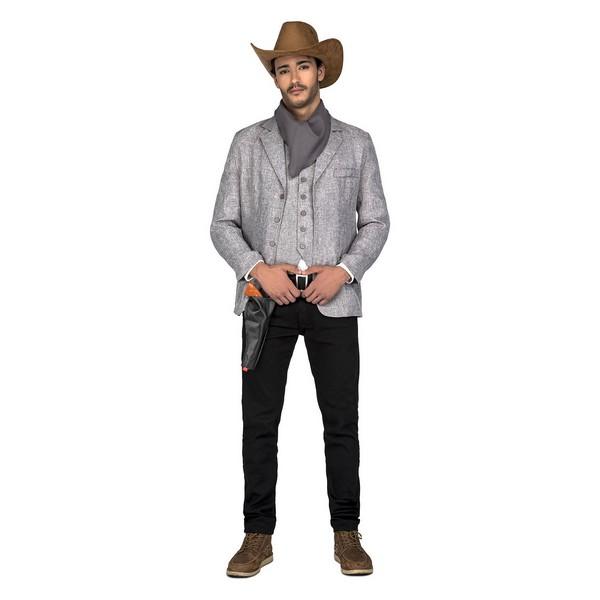 disfraz pistolero gris hombre - DISFRAZ DE PISTOLERO HOMBRE