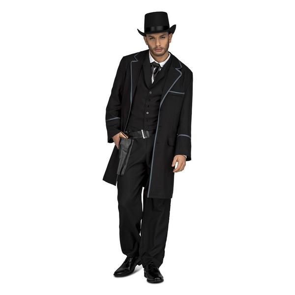 disfraz pistolero negro hombre - DISFRAZ DE PISTOLERO HOMBRE