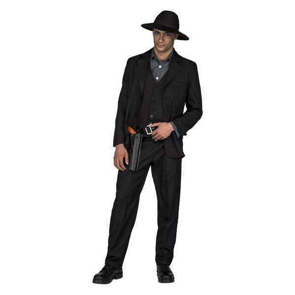 disfraz pistolero oscuro hombre - DISFRAZ DE PISTOLERO OSCURO DELUXE HOMBRE