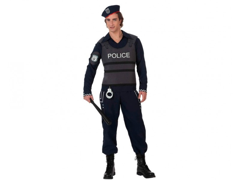 disfraz policia antidisturbios hombre - DISFRAZ POLICIA ANTIDISTURBIOS HOMBRE