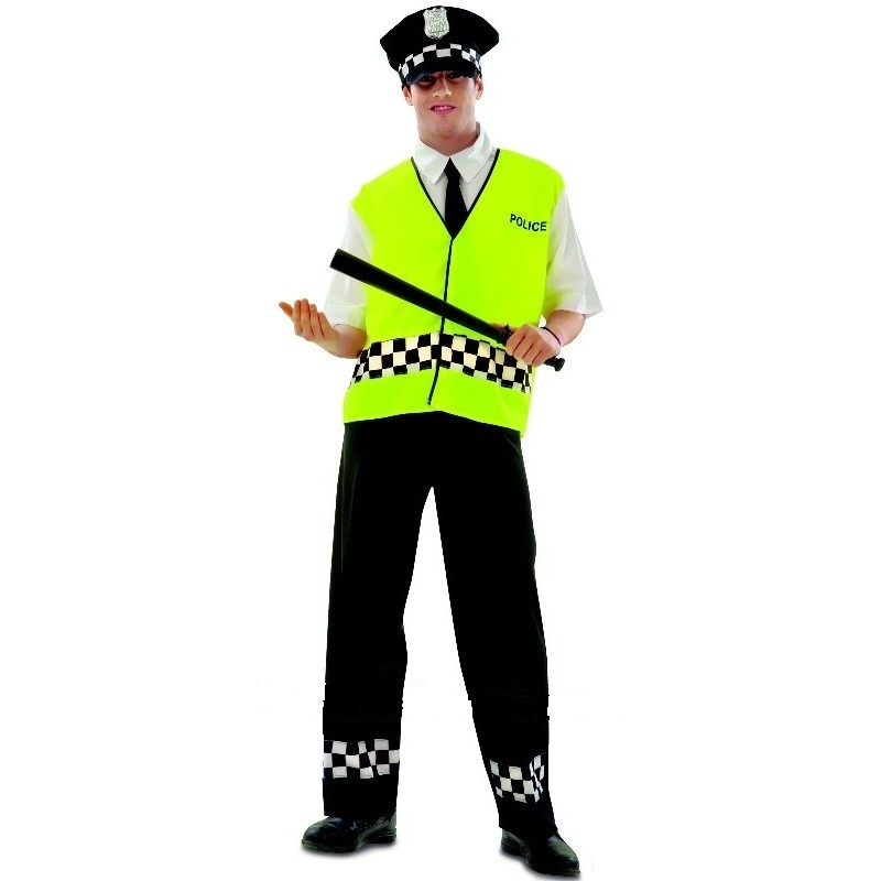 disfraz policia chaleco adulto - DISFRAZ DE POLICIA  CHALECO HOMBRE
