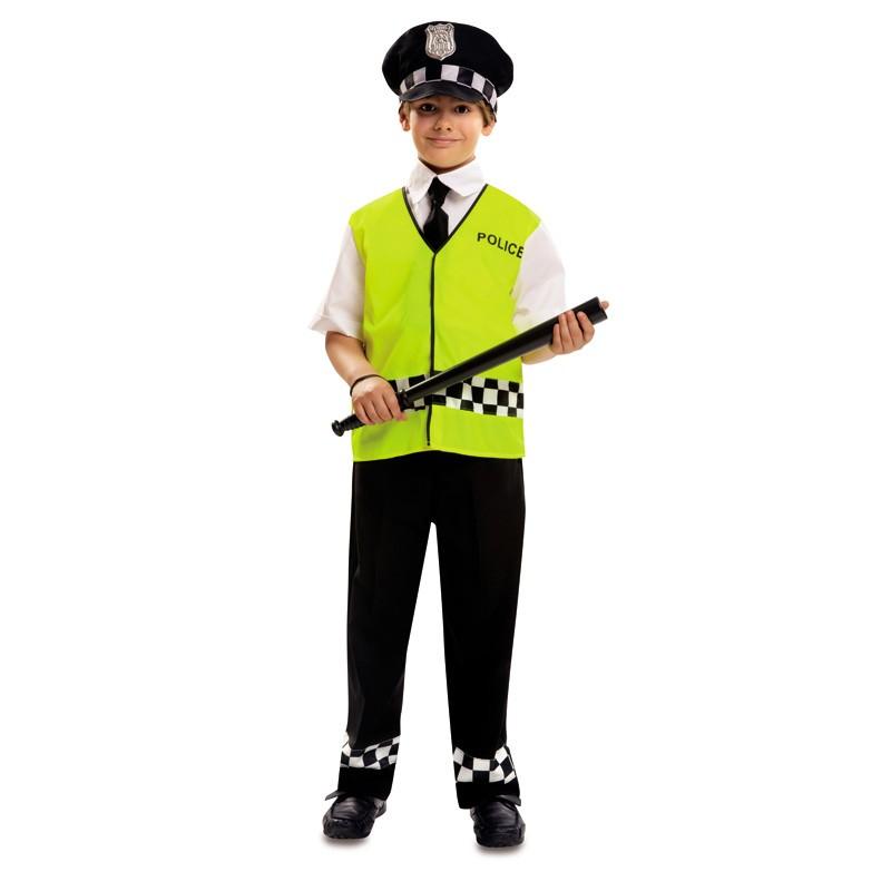 disfraz policia chaleco niño - DISFRAZ DE POLICIA REFLECTANTE NIÑO