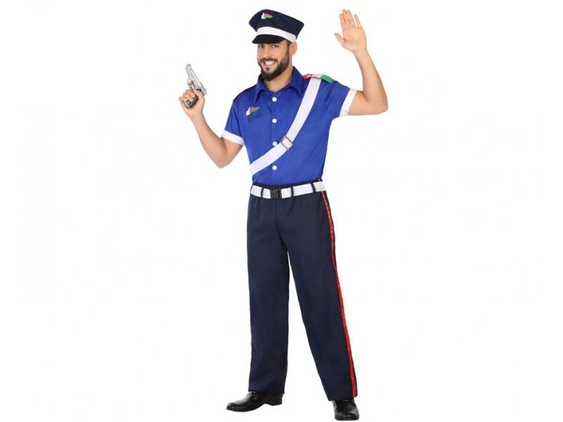 disfraz policia hombre 1 - DISFRAZ DE POLICIA MANGA CORTA HOMBRE