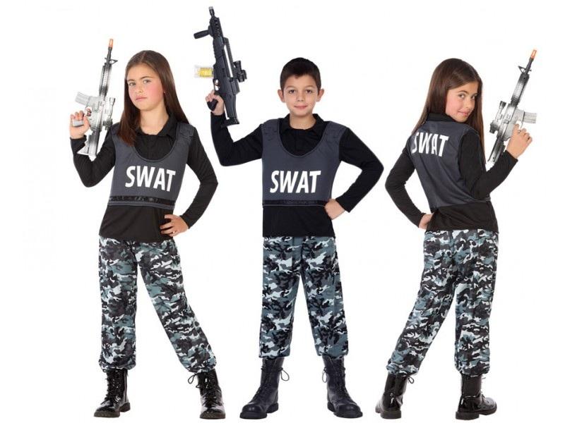 disfraz policia infantil - DISFRAZ DE POLICIA SWAT INFANTIL