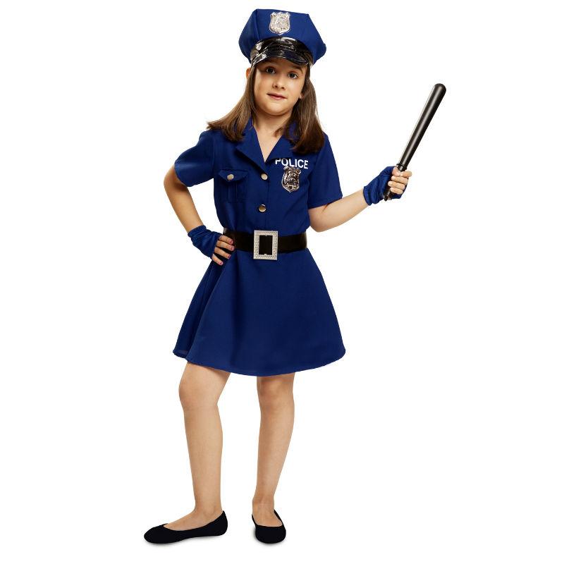 disfraz policia niña - DISFRAZ DE POLICIA NIÑA AZUL