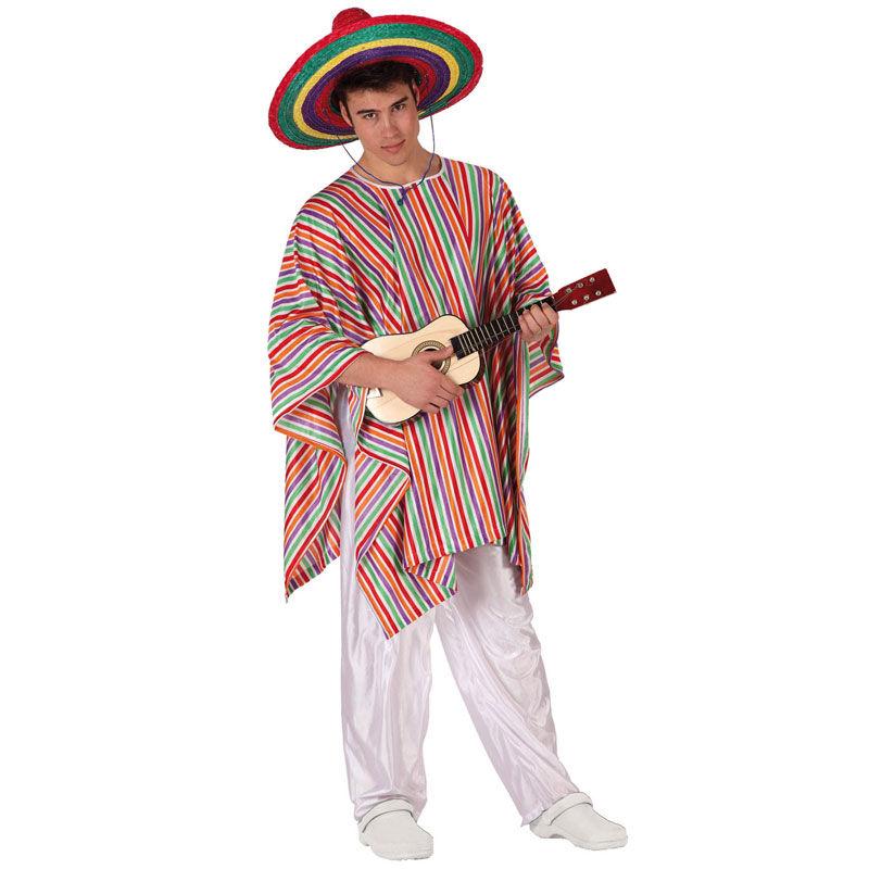 disfraz poncho mejicano - DISFRAZ  PONCHO DE MEJICANO HOMBRE