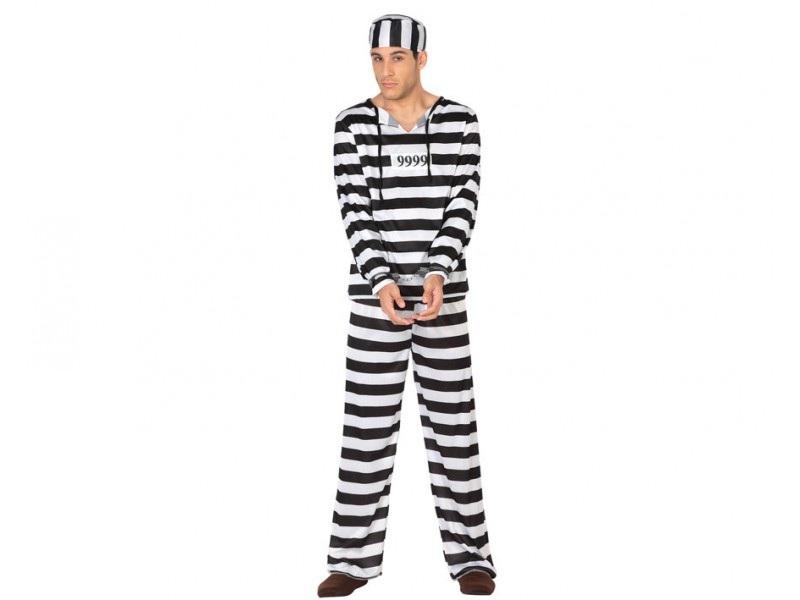 DISFRAZ DE PRESO HOMBRE - Disfraces de Hombre - Tienda de disfraces online