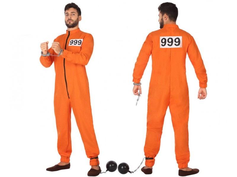 disfraz preso naranja hombre - DISFRAZ DE PRESO NARANJA HOMBRE