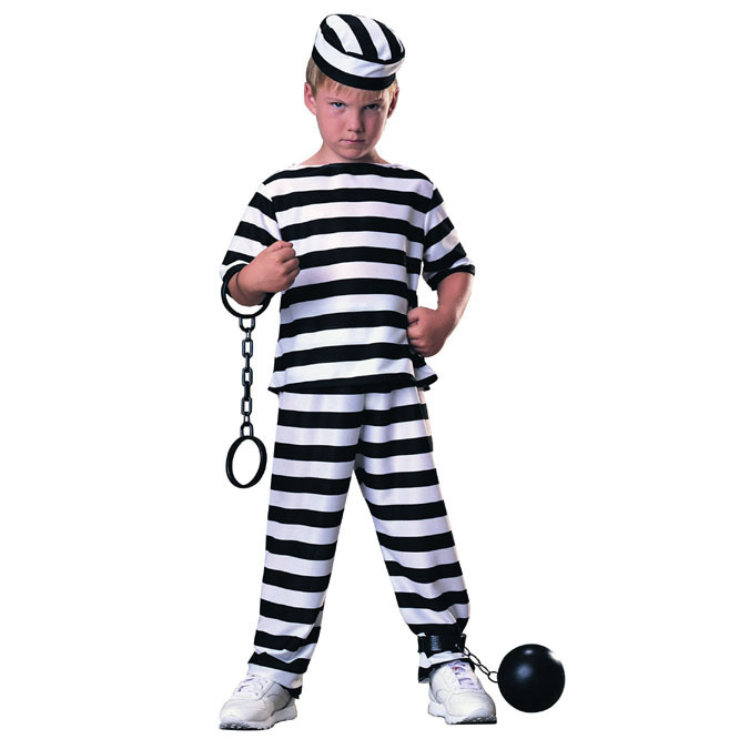 disfraz preso niño - DISFRAZ DE PRESO ECONOMICO NIÑO