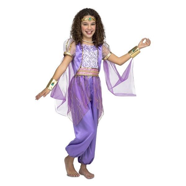 disfraz princesa árabe morada niña - DISFRAZ DE PRINCESA ARABE MORADA NIÑA
