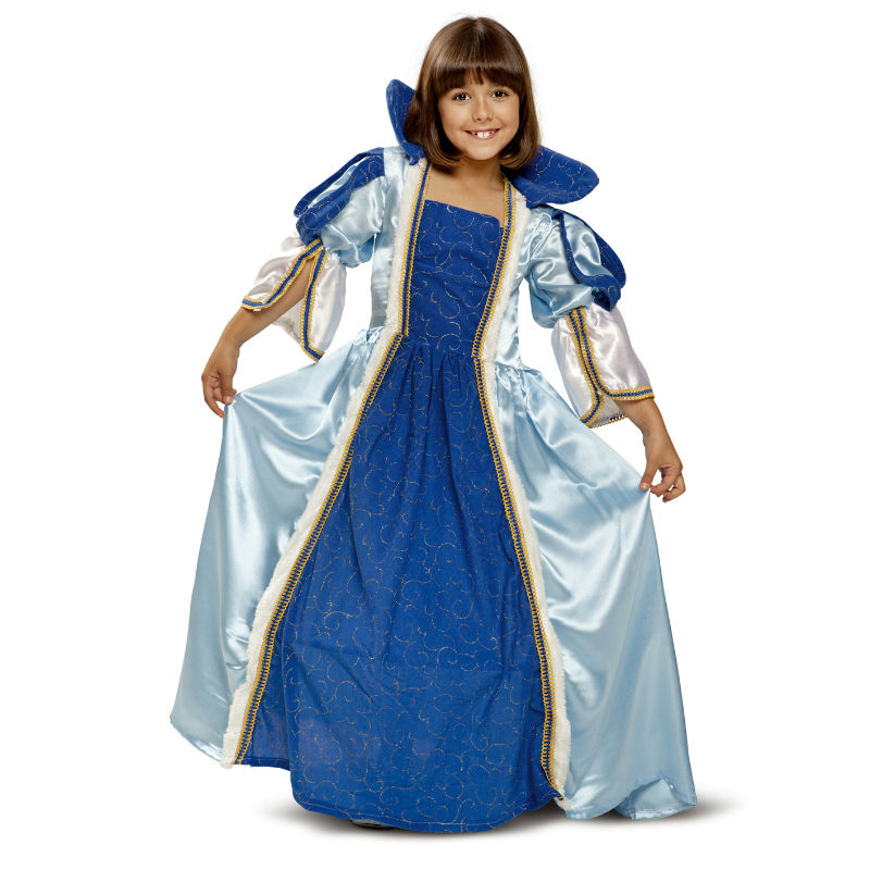 disfraz princesa época azul infantil - DISFRAZ DE ÉPOCA AZUL INFANTIL