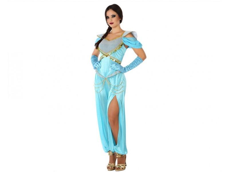 disfraz princesa arabe azul mujer - DISFRAZ DE PRINCESA ÁRABE MUJER