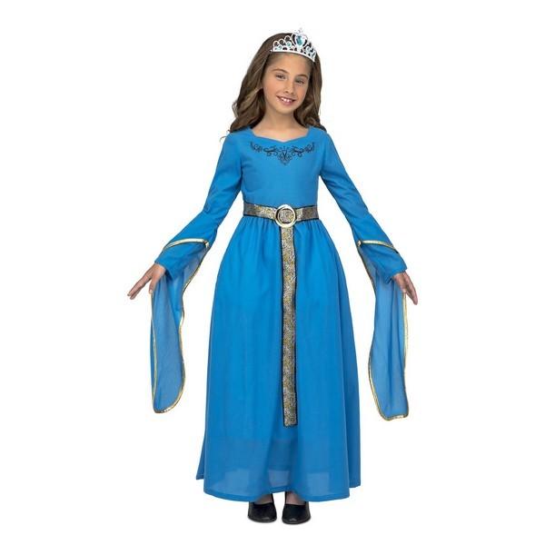 disfraz princesa medieval azul niña - DISFRAZ DE PRINCESA MEDIEVAL AZUL NIÑA