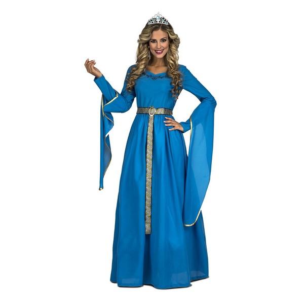 disfraz princesa medieval azul - DISFRAZ DE PRINCESA MEDIEVAL AZUL MUJER