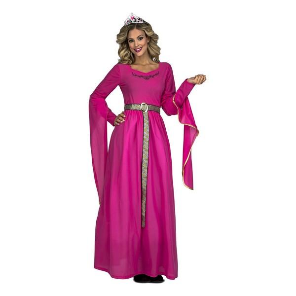 disfraz princesa medieval rosa mujer - DISFRAZ DE PRINCESA MEDIEVAL ROSA MUJER
