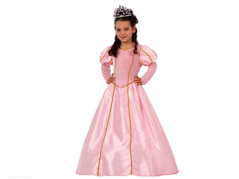 disfraz princesa rosa niña 1 - DISFRAZ DE PRINCESA NIÑA