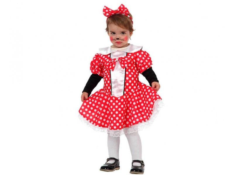 disfraz ratoncita minnie bebé - DISFRAZ DE RATONCITA  MINNIE NIÑA