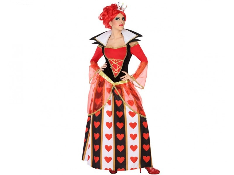 disfraz reina corazones mujer 1 - DISFRAZ DE REINA CORAZONES LUJO MUJER