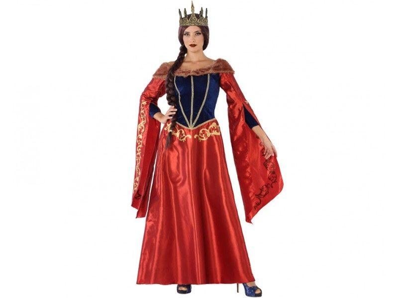 disfraz reina medieval rojo mujer 800x600 - DISFRAZ REINA MEDIEVAL ROJO MUJER