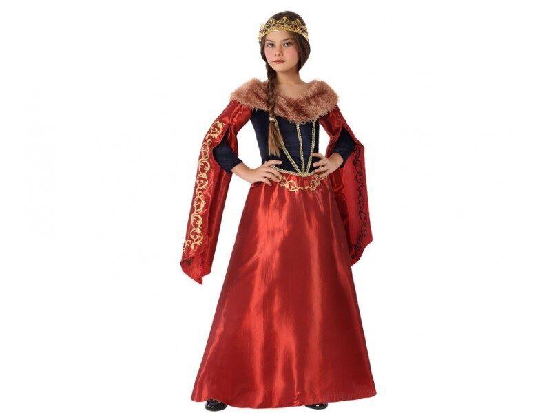 disfraz reina medieval rojo niña 800x600 - DISFRACES NIÑA