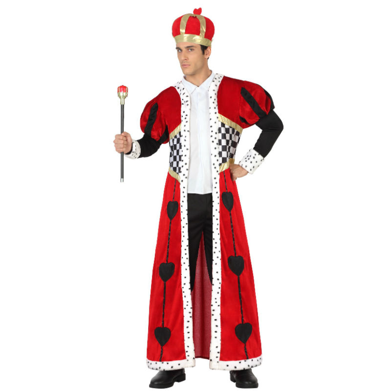 disfraz rey de corazones adulto - DISFRAZ DE REY DE CORAZONES