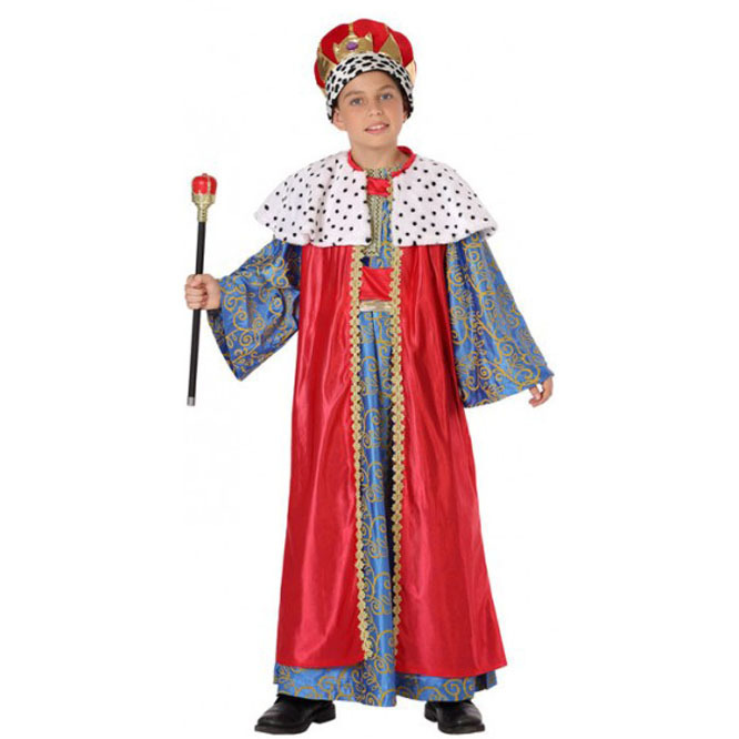 disfraz rey mago rojo infantil nino - DISFRAZ DE REY MAGO INFANTIL