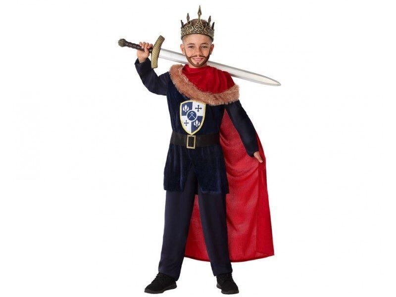 disfraz rey medieval rojo niño 800x600 - DISFRAZ DE REY MEDIEVAL NIÑO